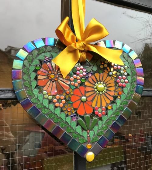 Golden Cosmos Heart 30cms