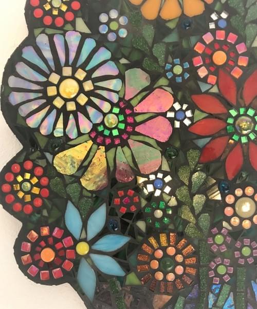 Mosaic Floral Bouquet Vase
