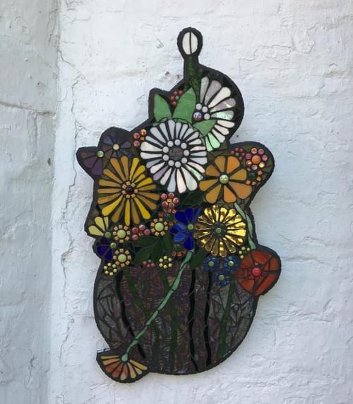 Mosaic Dutch Floral Bouquet Vase
