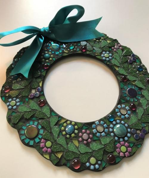 Turquoise Christmas Wreath (25cms)