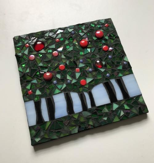 15 cm The Light Beyond Mosaic Panel Apple Trees