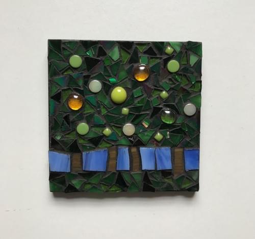 10 cm The Light Beyond Mosaic Panel Pear Trees