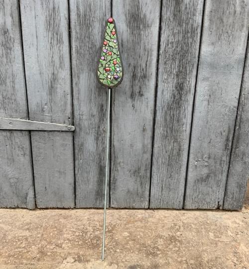 Taper Tree Garden Stake (50 cms) Red