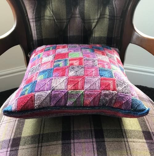 14 inch Handknitted Mosaic Cushion (DKC14/02)