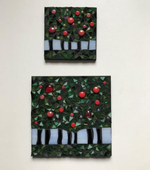 10 cm The Light Beyond Mosaic Panel Apple Trees