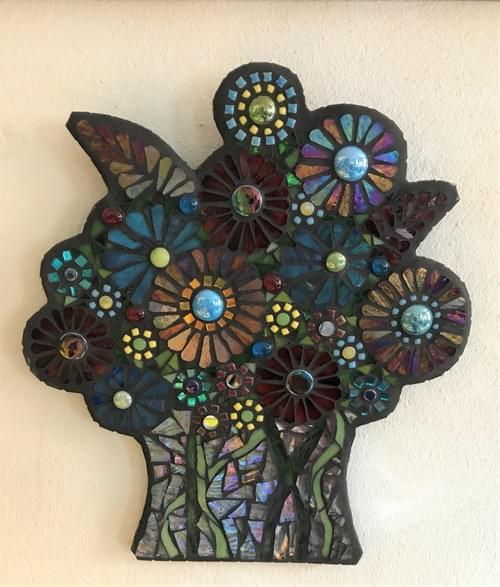 Teal & Amethyst Floral Bouquet
