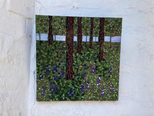 Bluebell Wood Mosaic Wall Panel 30 cm