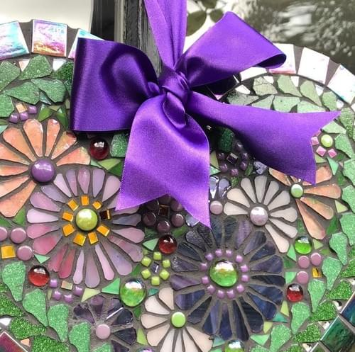 Purple Cosmos Heart 30cms