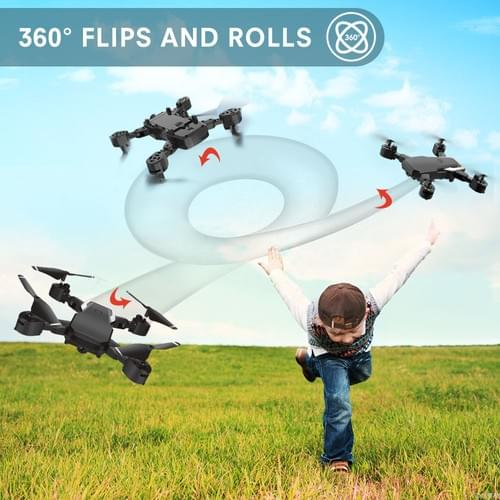 Mini Drone with Camera for Kids Adults, 720P HD Foldable FPV Remote