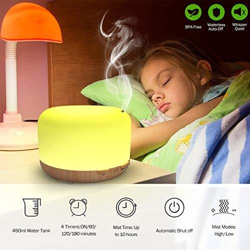 500ml Essential Oil Diffusers with Remote Control,  Aroma Humidifiers Ultrasonic Quiet Aromath