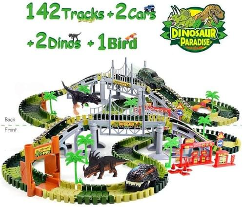 Dinosaur Toy Figure with Activity Play Mat & Trees, Educational Indoor Outdoor Playset to Create A D
