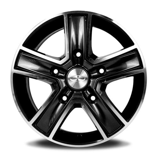 TRA R-SERIES MACHINED FACE BLACK 16INCH