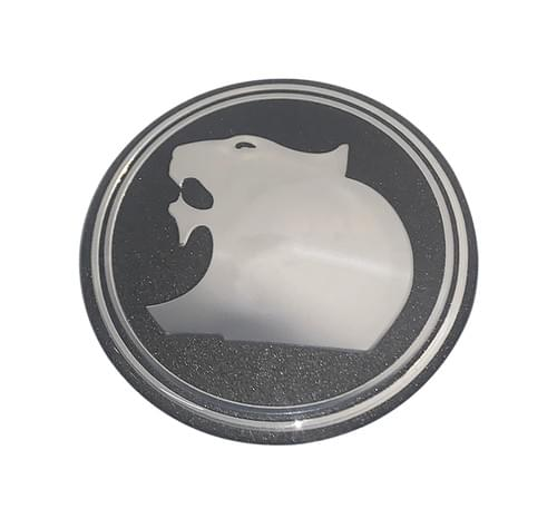 WHEEL CAP DECAL LION OD 63mm METALIC GREY REPLACEMENT ONLY