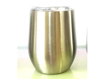 12 OUNCE STEMLESS WINEGLASS WITH LID