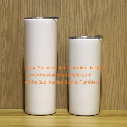 Straight Skinny Tumblers White Subimation(25pcs/case)