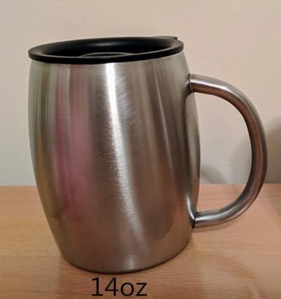 14 OUNCE COFFEE MUG WITH LID