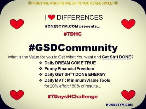 6 MONTHS of #GSDCommunity Daily Accountability Group ($2000 instead of $3000)