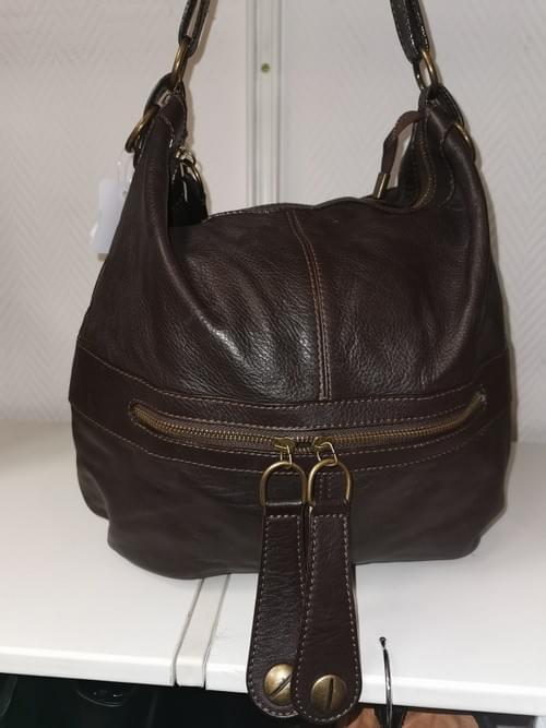 sac en cuir marron style Darel