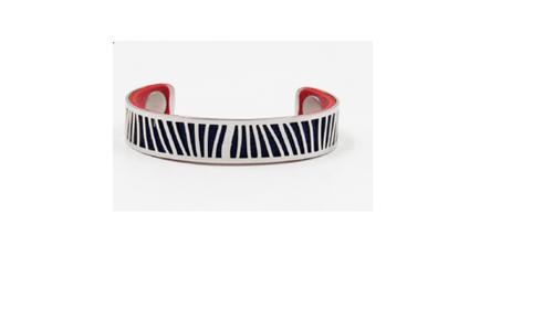manchette en acier couleurs interchangeables rouge / bleu marine