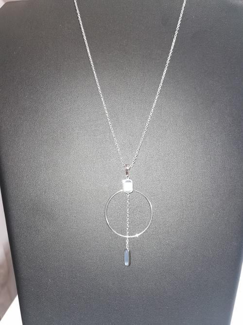 collier acier pierre bleu Victoria neuf