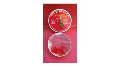 Crêpes de savon fraise de Plougastel ( boite de 10 crêpes )