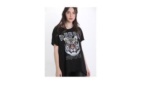 tunique noir tigre 36/44