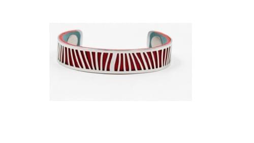 manchette en acier couleurs interchangeables rouge / bleu métalisé