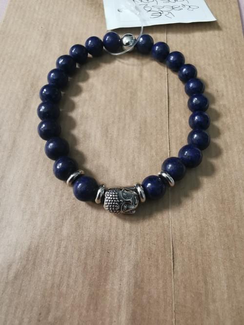 bracelet LAPIS LAZULI BOUDHA POUR HOMME
