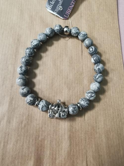 bracelet jaspe pour Homme