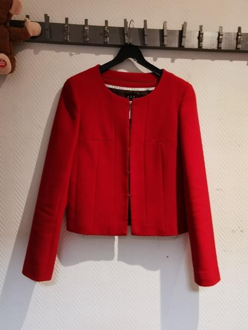 veste rouge 123 taille 36