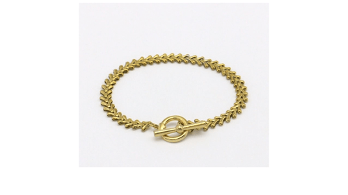 bracelet acier doré épi