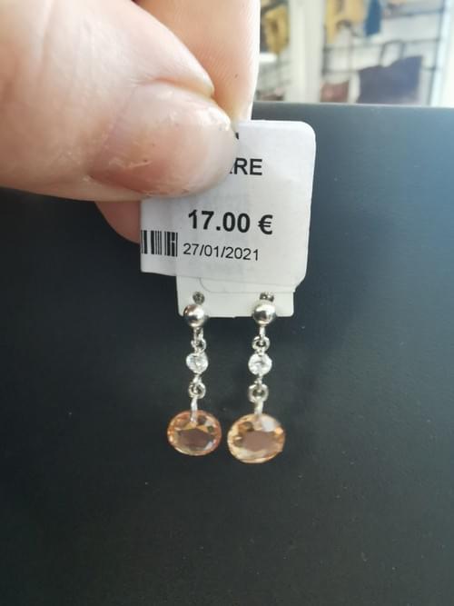 boucles argent 925 et pierre semi precieuse