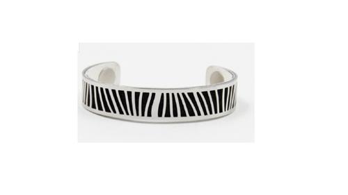 manchette en acier couleurs interchangeables blanc/noir