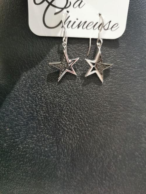 boucles étoiles argent 925