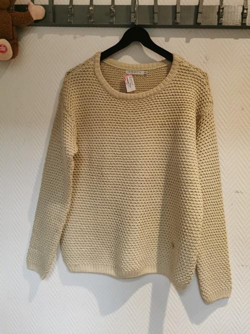 Pull beige doré FRENCH T M/L