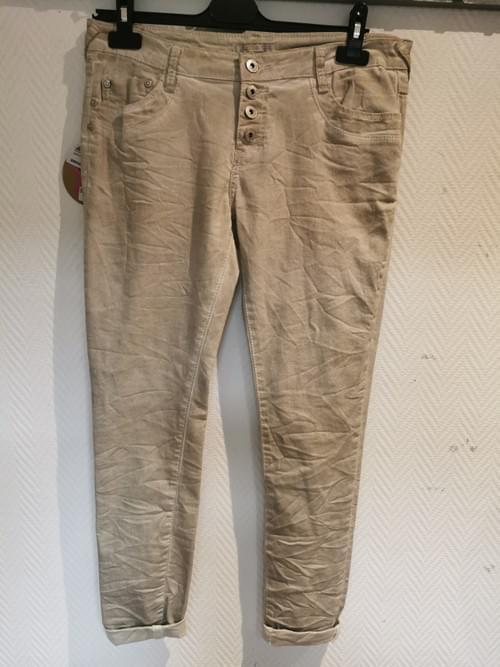 pantalon neuf beige Place Du Jour 42