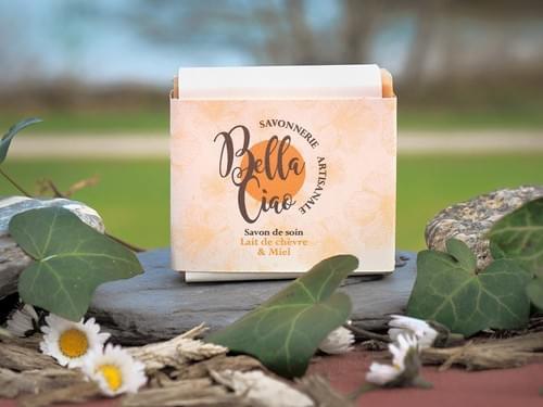 savon Bio : Lait de chèvre et miel surgras à 8% sans parfum