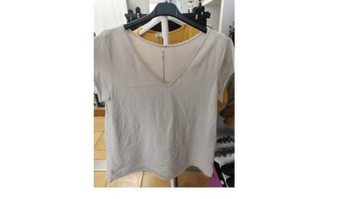 Tee shirt 100% coton - beige