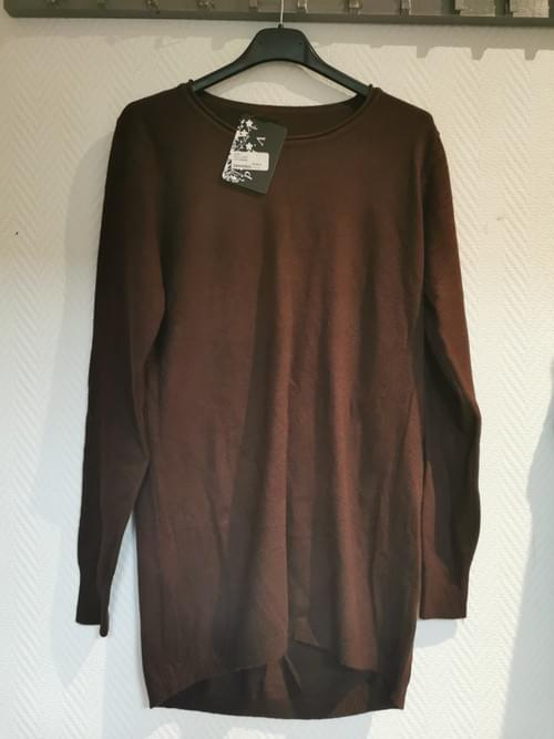 Pull neuf marron taille unique cachemire