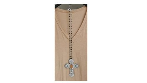 sautoir croix artisanal