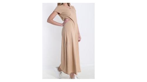 robe beige /camel taille unique
