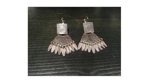 Boucles d'oreilles Shabada plumes