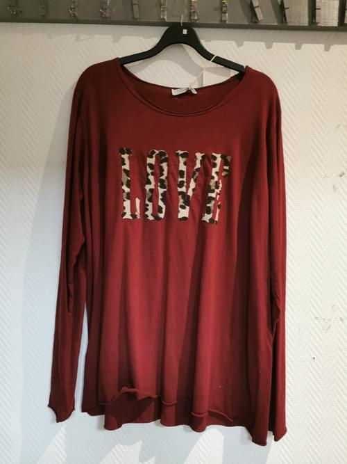 haut rouge Love 42-48