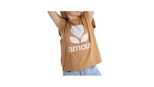 camel .tee shirt amour taille unique