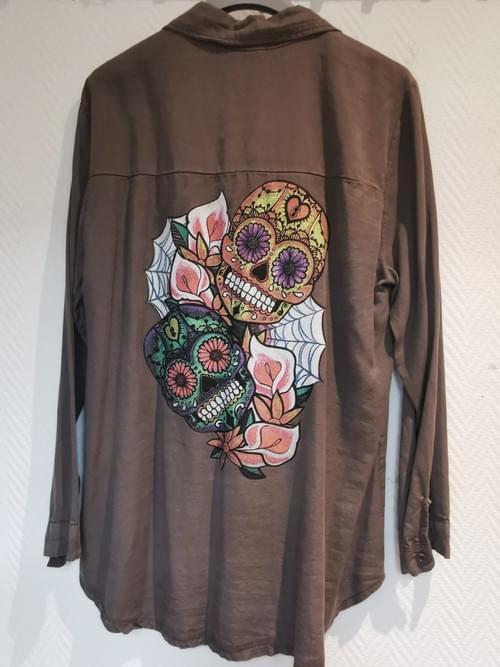 chemise tête de mort neuve 38-42