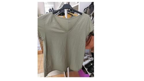Tee shirt 100% coton - kaki