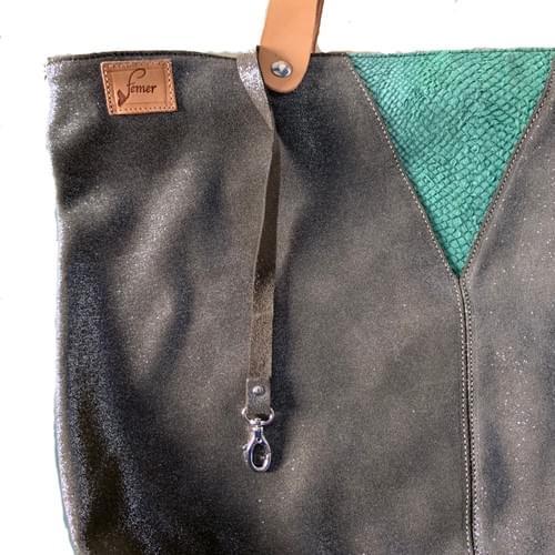 Cabas modèle OSTREA kaki et vert