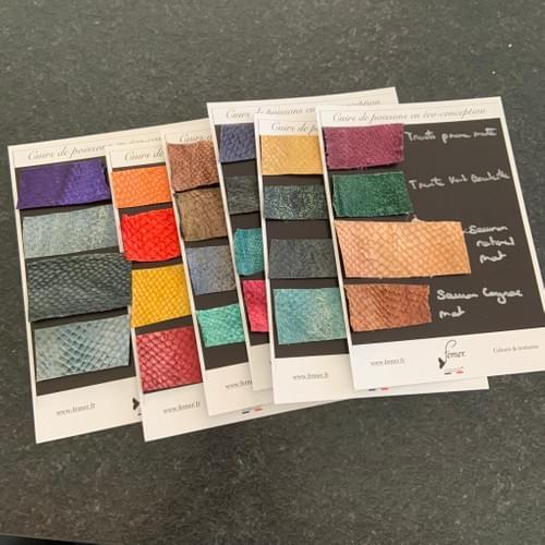 Planches d'échantillons et de coloris