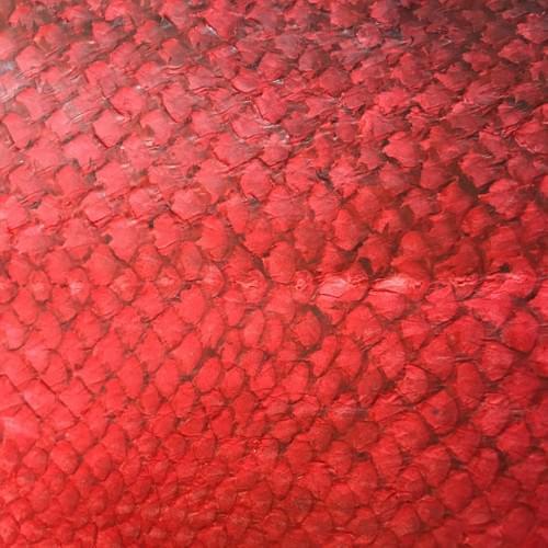 Cuir de saumon rouge