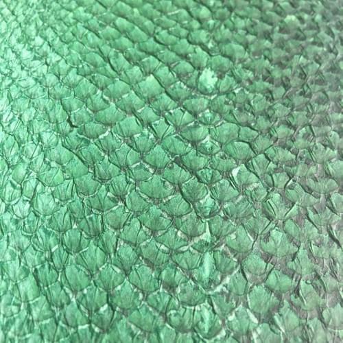 Cuir de saumon vert bouteille